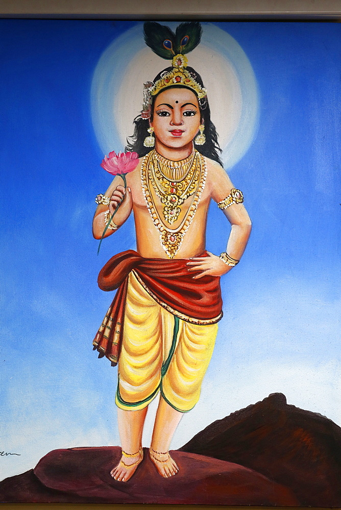 Murugan (Shiva) painting in Highgate Hill Murugan temple, London, England, United Kingdom, Europe