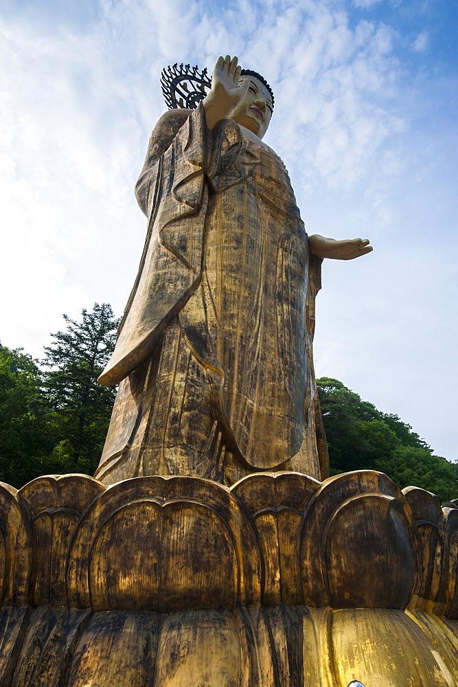 Golden Maitreya Statue, Beopjusa Temple Complex, South Korea, Asia