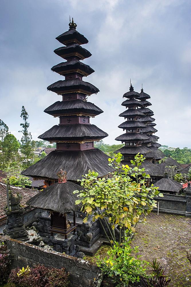 Overlook over the Pura Besakih temple complex, Bali, Indonesia, Southeast Asia, Asia