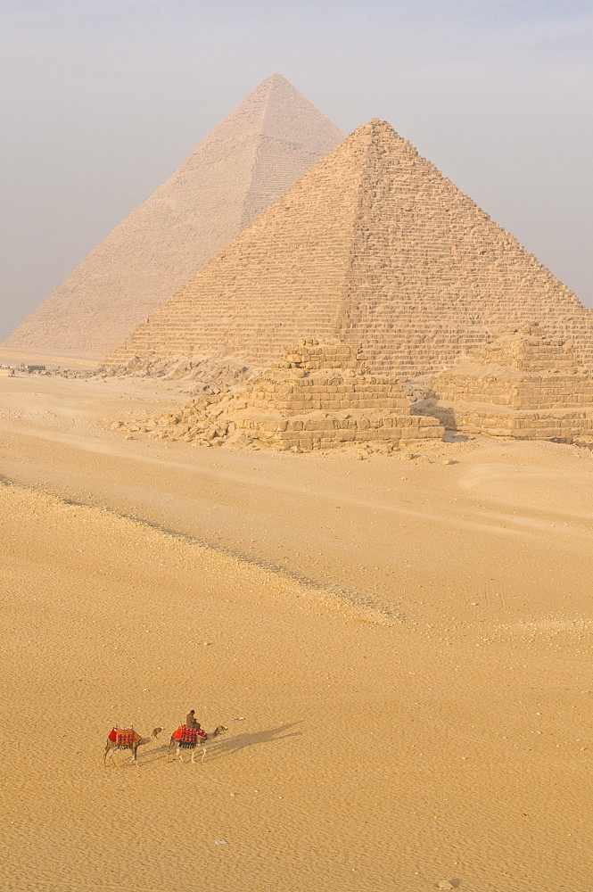 The Pyramids of Giza, UNESCO World Heritage Site, near Cairo, Egypt, North Africa, Africa