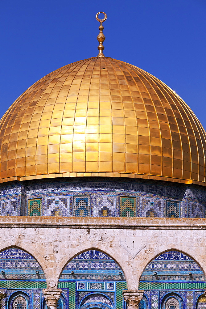 Dome of the Rock mosque, Jerusalem, Israel, Middle East - 818-1333