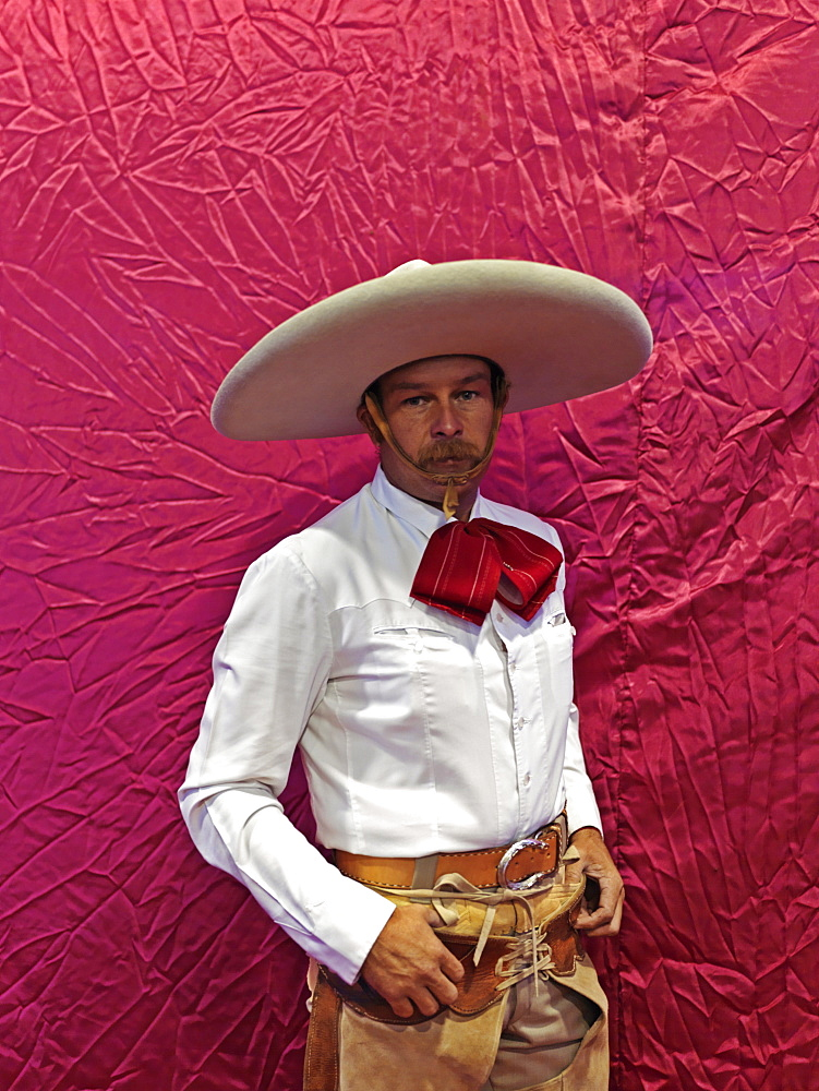 Portrait of Mexican charras (cowboy), Guadalajara, Jalisco, Mexico, North America - 818-577