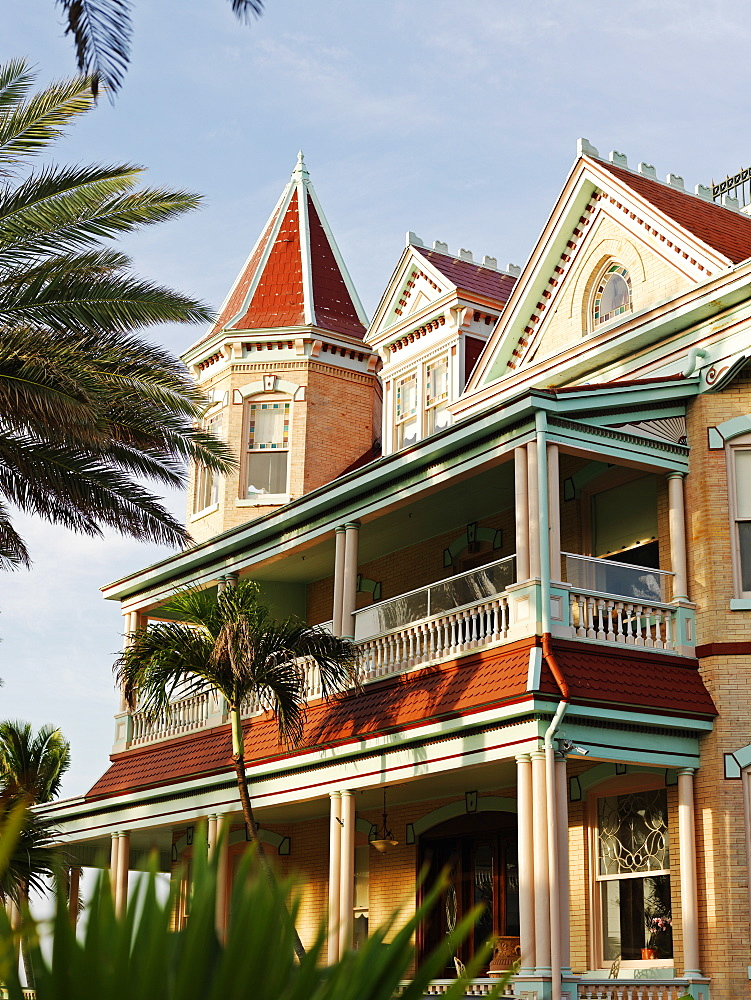 Southernmost House in the USA, built in 1896 by Judge Vining Harris, who married into the prominent Curry family, Key West, Florida, United States of America, North America