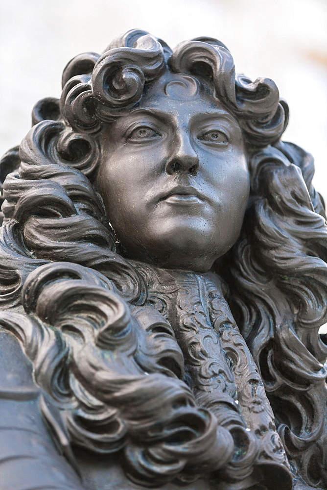 Statue of King Louis XIV, at the Place Royale, Quebec City, Quebec, Canada, North America - 821-246