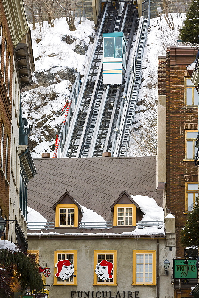 Old Quebec Funicular, Old Quebec, Quebec City, Quebec, Canada, North America - 821-251