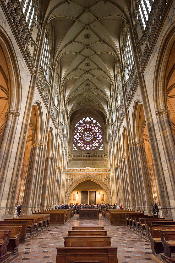 St. Vitus Cathedral, Prague Castle, Mala Strana, UNESCO World Heritage Site, Prague, Czech Republic, Europe - 828-1193