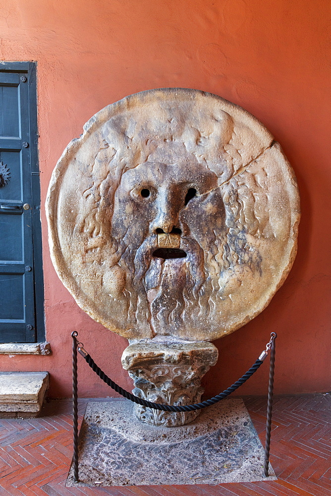 Italy, Rome, Santa Maria in Cosmedin Church, Bocca della Verita, Mouth of Truth