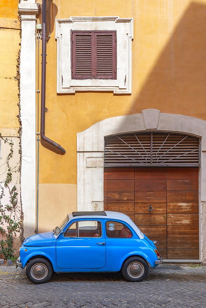 Fiat 500 (Fiat Cinquecento), Regola, Rome, Lazio, Italy, Europe