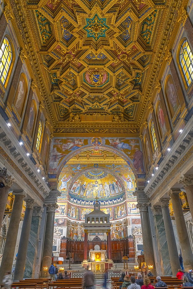 Basilica of Our Lady in Trastevere (Basilica di Santa Maria in Trastevere), Trastevere, Rome, Lazio, Italy, Europe