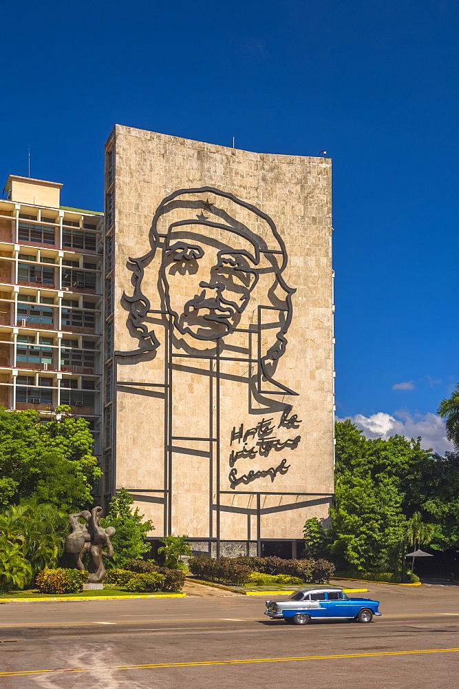 Plaza de la Revolucion, Vedado, Havana, Cuba, West Indies, Caribbean, Central America