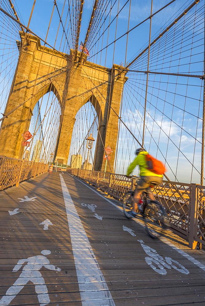 Brooklyn Bridge, Manhattan, New York, United States of America, North America