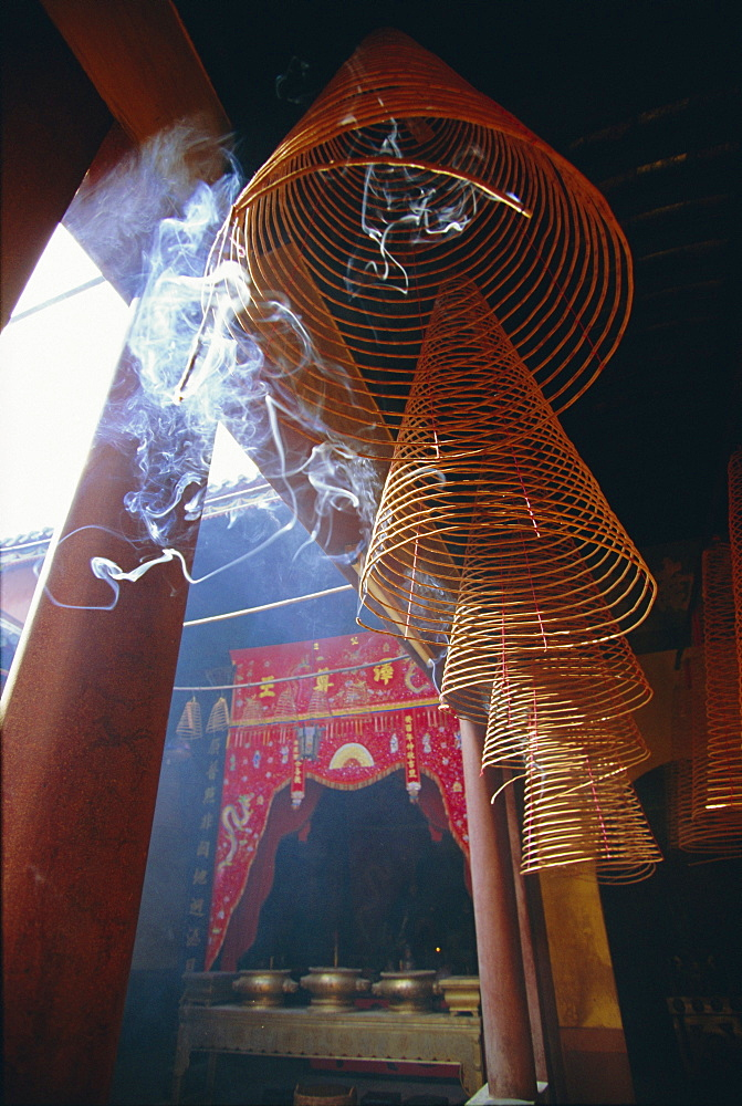 Huge incense spirals which burn for hours, Phung Son Tu Pagoda, Ho Chi Minh City (Saigon), Vietnam