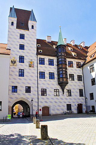 Old courtyard of the Residence, Munich, Bavaria, Germany