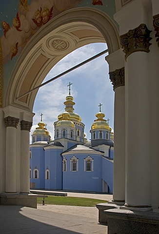 Ukraine Kiev golden domes of St. Michel Monastey   37 wiedererbaut 1996
