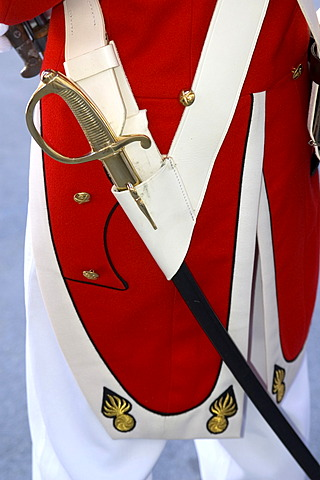 Uniform parts of the Grenadiers of the Lord Valais Switzerland