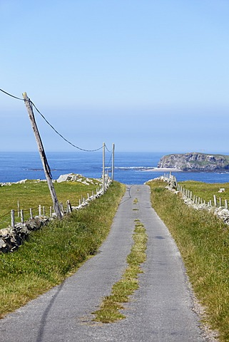 Country road, Isle of Doagh, Inishowen Peninsula, County Donegal, Ireland, British Isles, Europe
