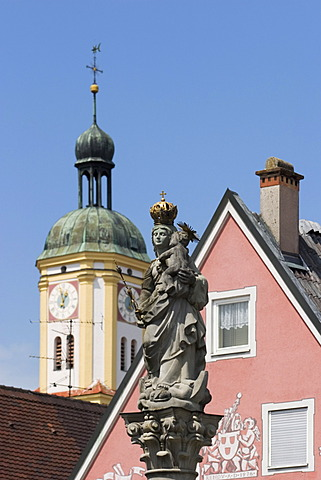 Figure of Maria in Mindelheim - Bavaria