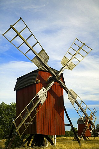 Windmill at Lerkaka, Oland, Sweden
