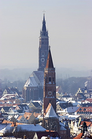 St. Martin and St.Jodok, Landshut, Lower Bavaria, Germany