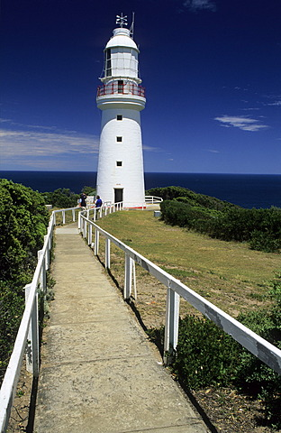 Historic lighthouse at Cape Otway, Great Ocean Road, Victoria, Australia