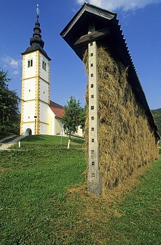 Church of Jereka, Gorenjska region, Slovenia
