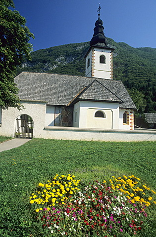 Church of Stara Fuzina, Triglav National Park, Gorenjska region, Slovenia
