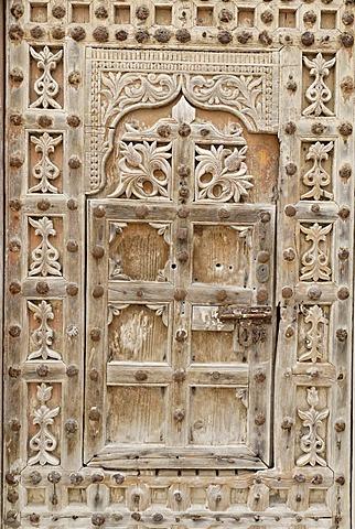 Historic door in the old town of Al Mukalla, Mukalla, Yemen