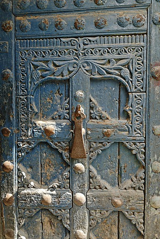 Historic door in the old town of Al Mukalla, Mukalla, Yemen