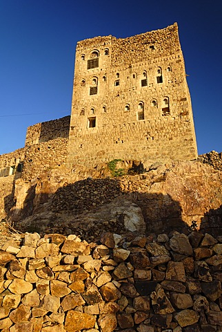 Mountain village Shaharah, Yemen
