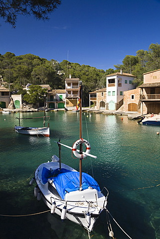 Harbour of Cala Figuera, fishing boats, Mallorca, Majorca, Balearic Islands, Mediterranean Sea, Spain, Europe