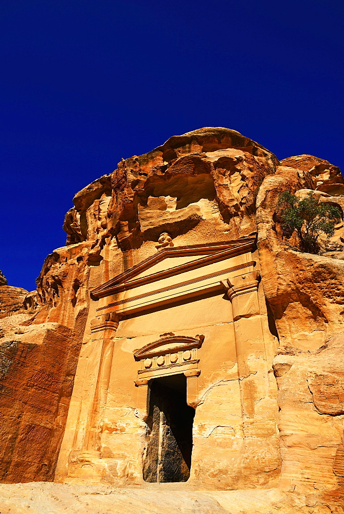 Old rock-church in Little Petra, Jordan, Asia - 832-379172