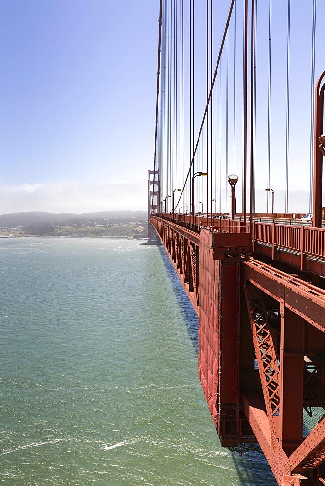 West side of the Golden Gate Bridge, San Francisco, California, USA, North America