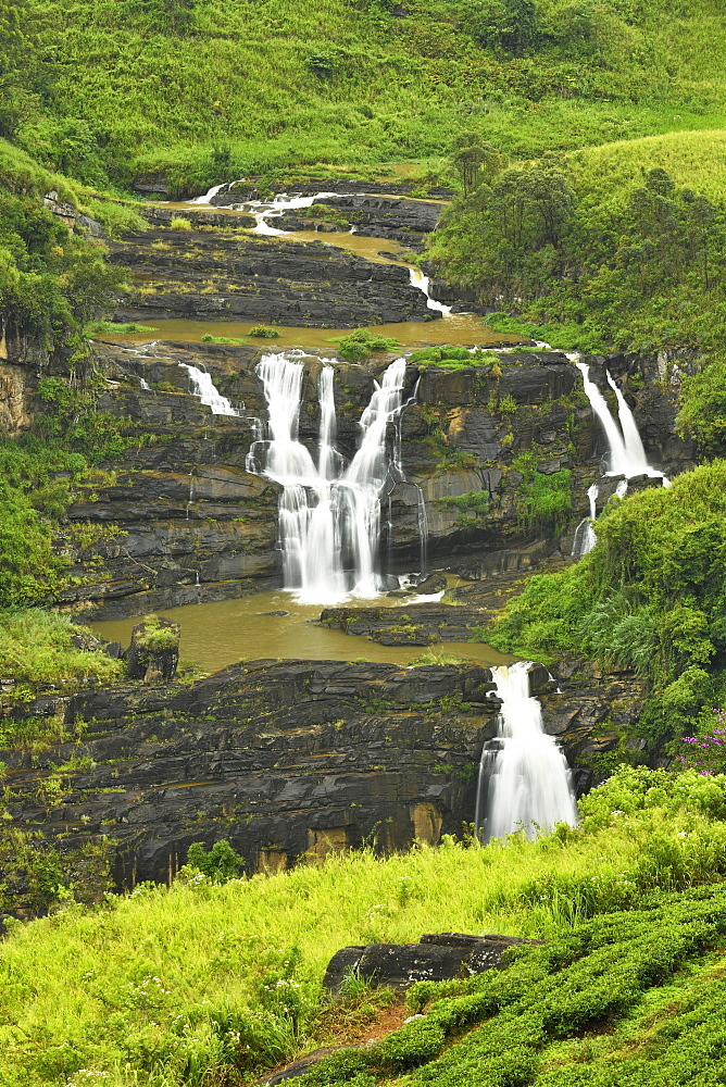 St. Clair's Falls, Central Highlands, Talawakale, Sri Lanka, Asia