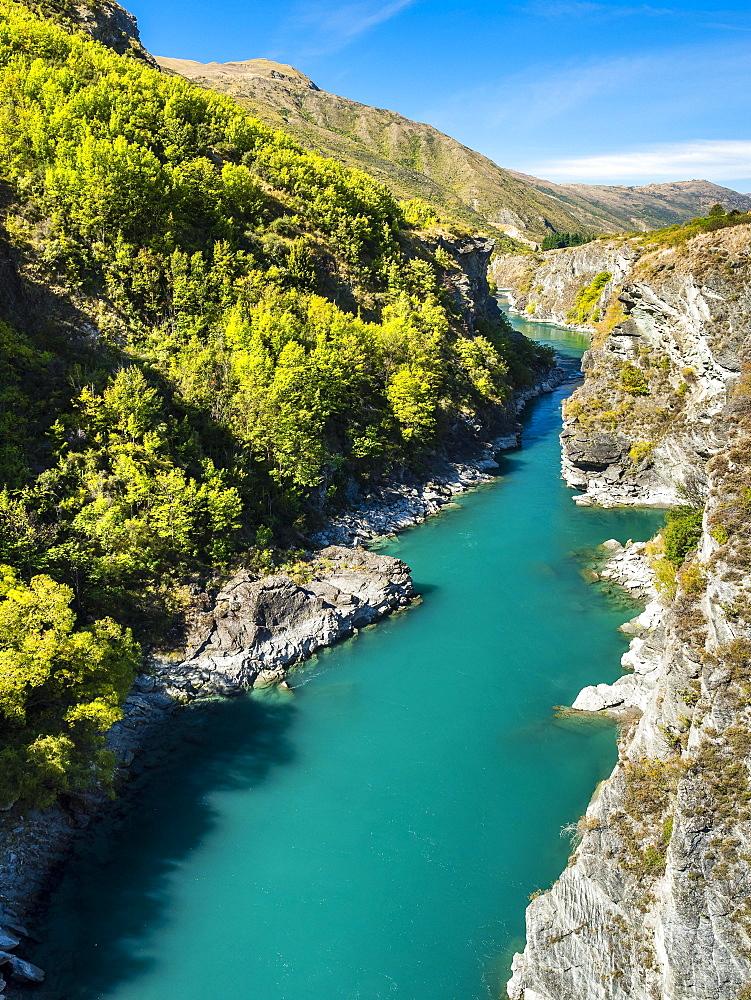 Canyon Kawarau Gorge, Kawarau River, Destrict Queenstown Lake, Otago Region, South Island, New Zealand, Oceania