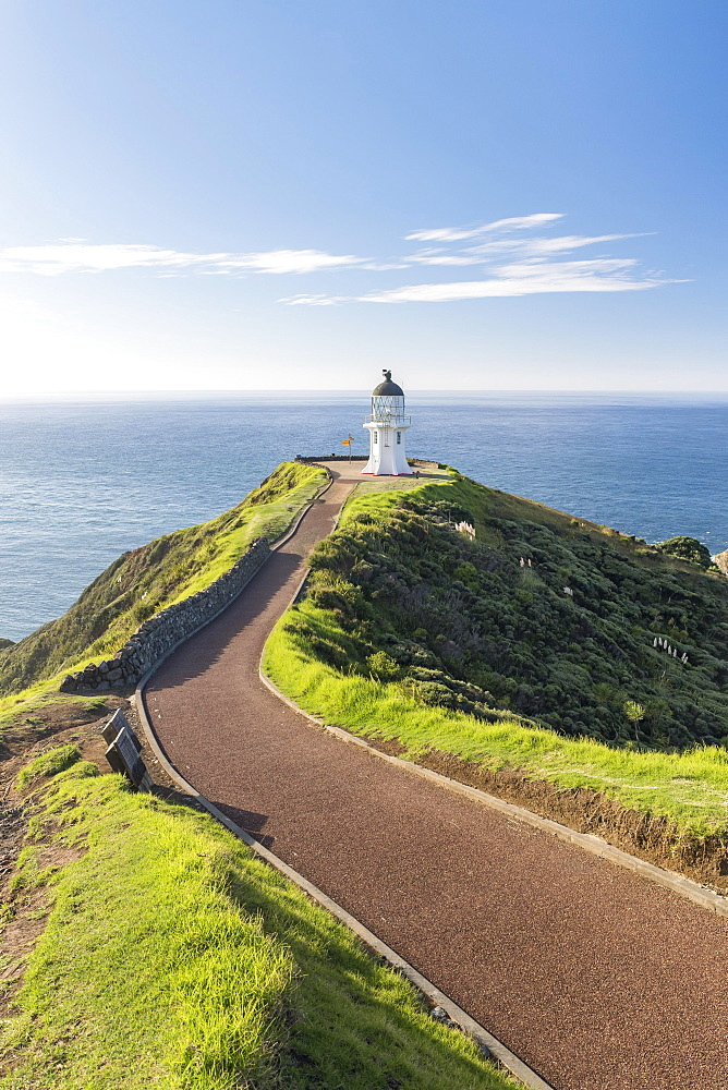 Lighthouse at Cape Reinga, Northland, North Island, New Zealand, Oceania
