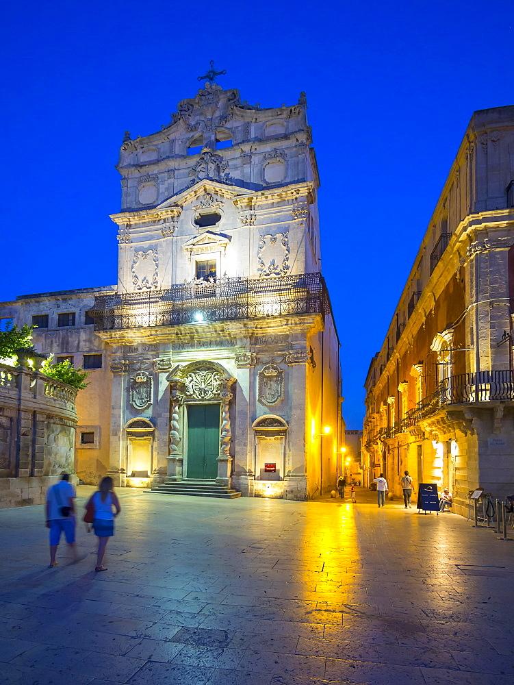 Church of Santa Lucia alla Badia on cathedral square, La Vergine del Piliere, Syracuse, Province of Syracuse, UNESCO World Heritage Site, island of Ortigia, Ortigia, Sicily, Italy, Europe