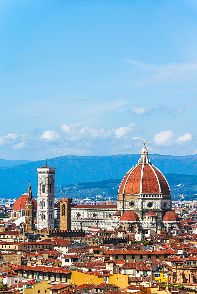 Florence Cathedral with the dome by Brunelleschi, UNESCO World Heritage Site, Florence, Tuscany, Italy, Europe