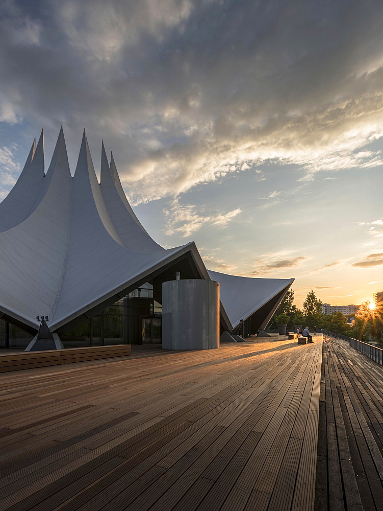 The Tempodrom at sunset, Berlin, Germany, Europe