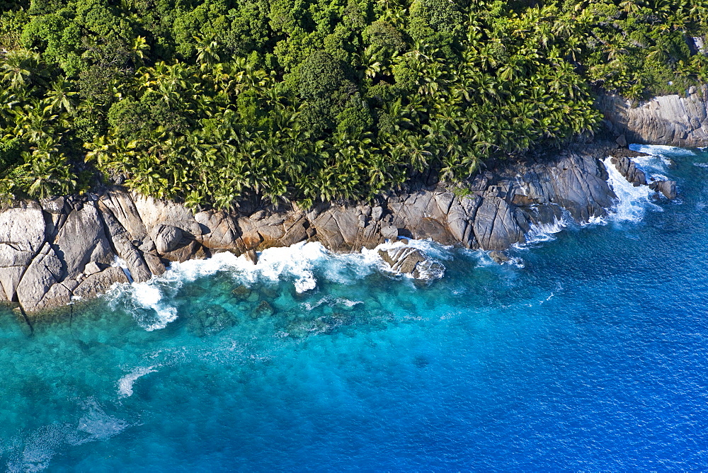 Coast at Ponte Maloopa, Mahé Island, Seychelles, Indian Ocean, Africa