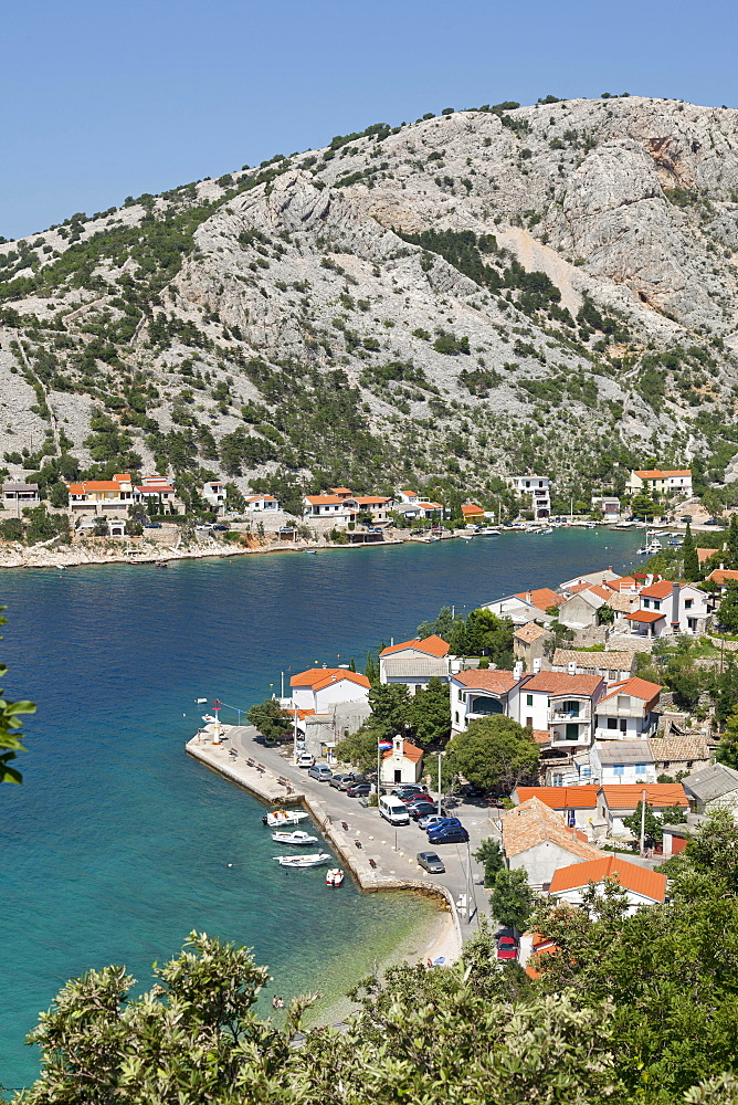 View of the town of Donja Klada, Kvarner Gulf, Croatia, Europe