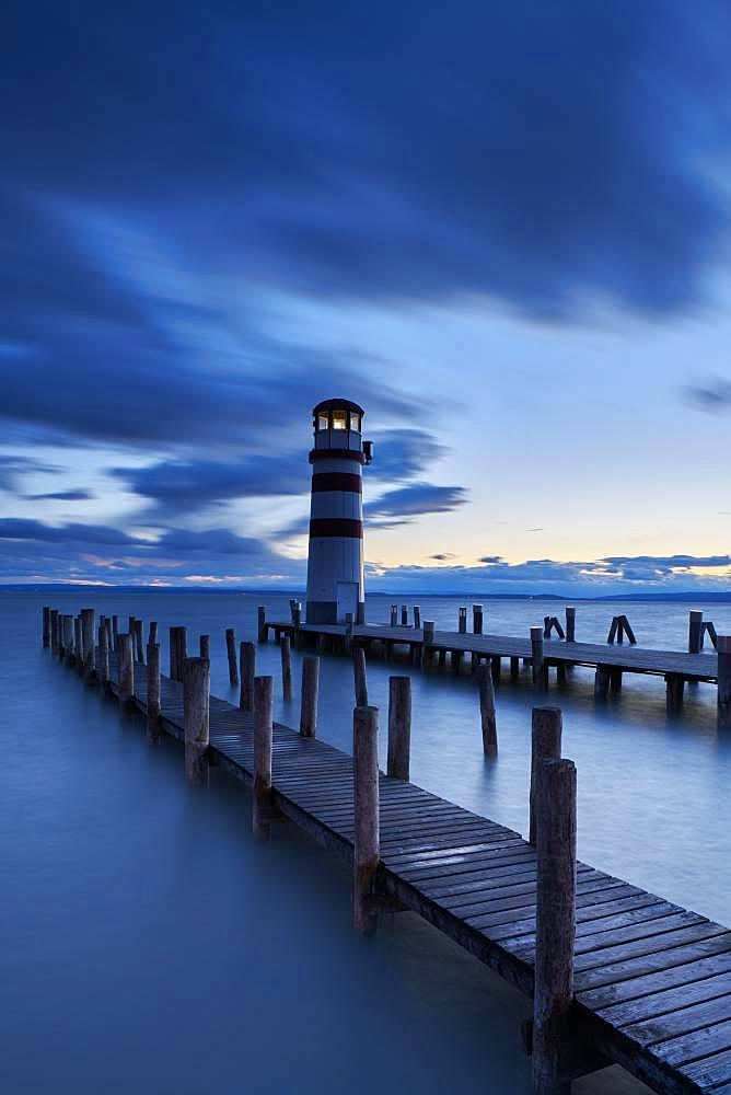 Lighthouse, Podersdorf, Burgenland, Austria, Europe