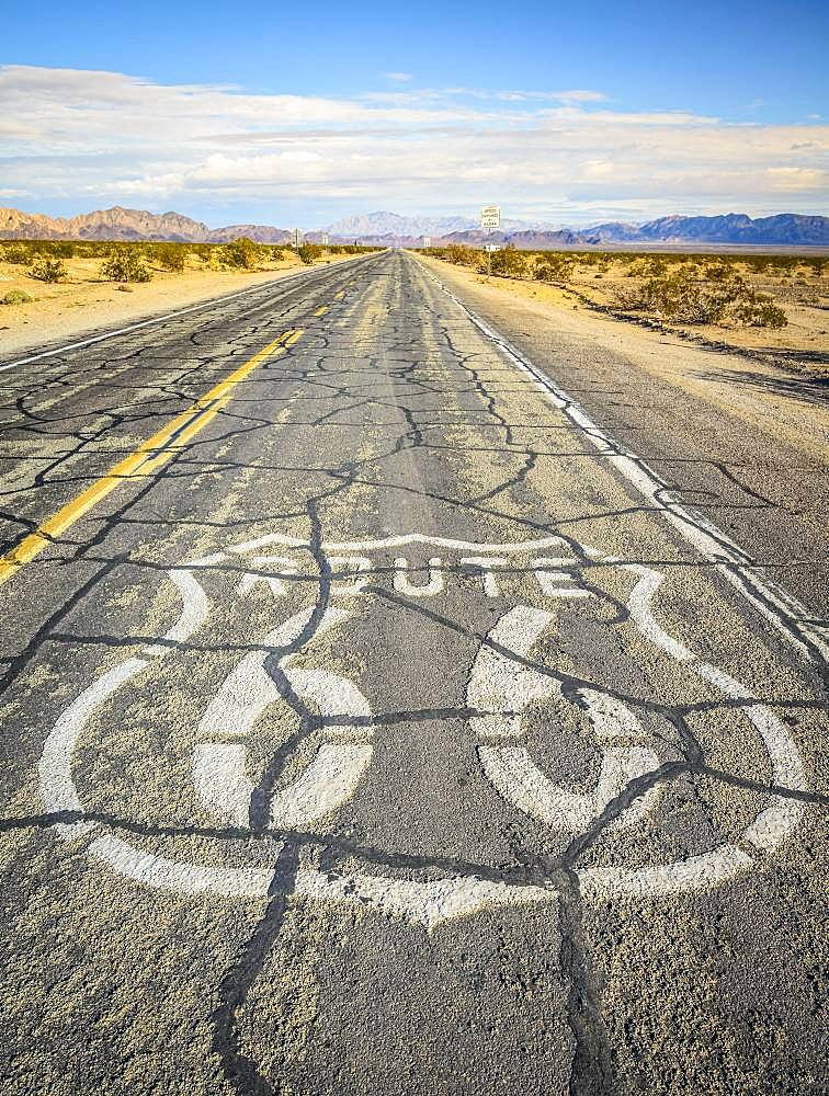 Historic Route 66, Ludlow, California, USA, North America