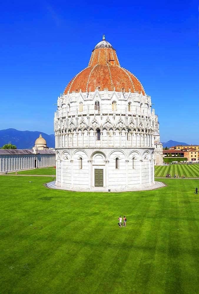 Baptistery, Campo dei Miracoli, Pisa, Tuscany, Italy, Europe