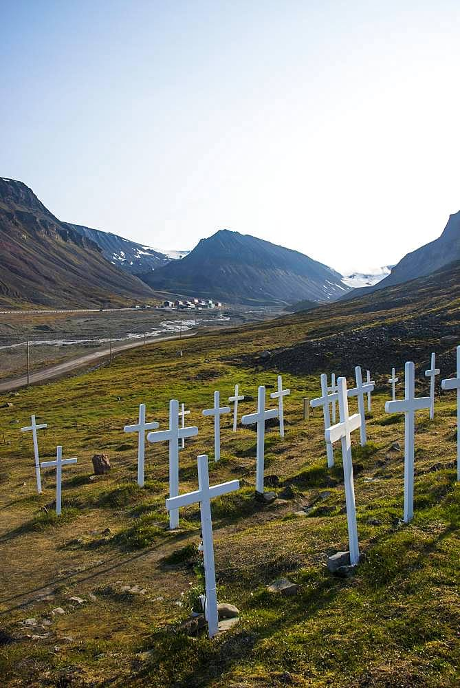 Old cemetery in Longyearbyen, Svalbard, Arctic, Norway, Europe