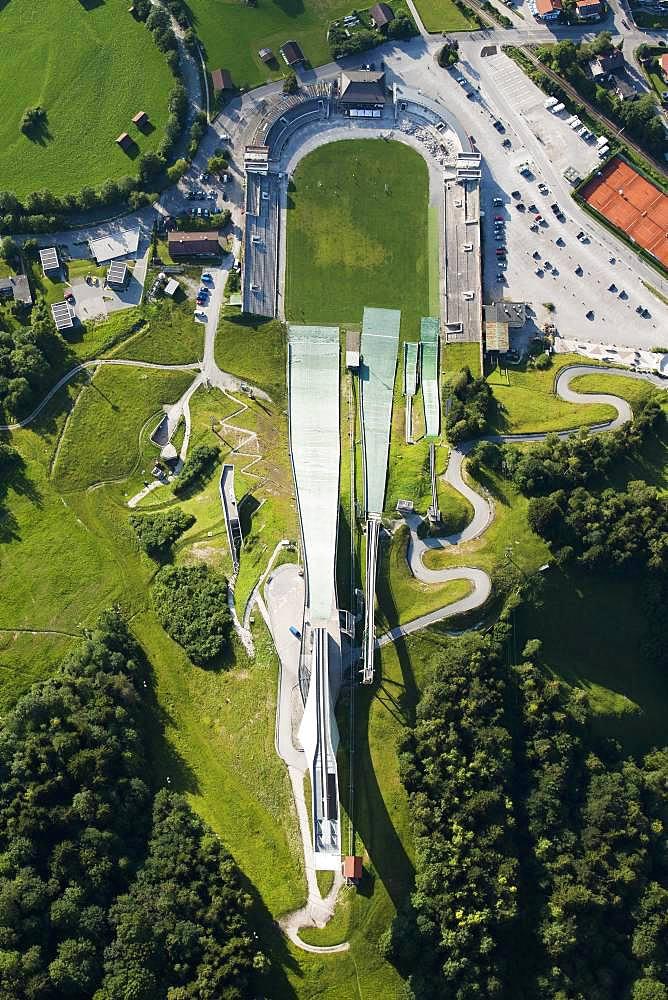 Ski jump with ski stadium, Garmisch-Partenkirchen, Bavaria, Oberbayern, Germany, Europe
