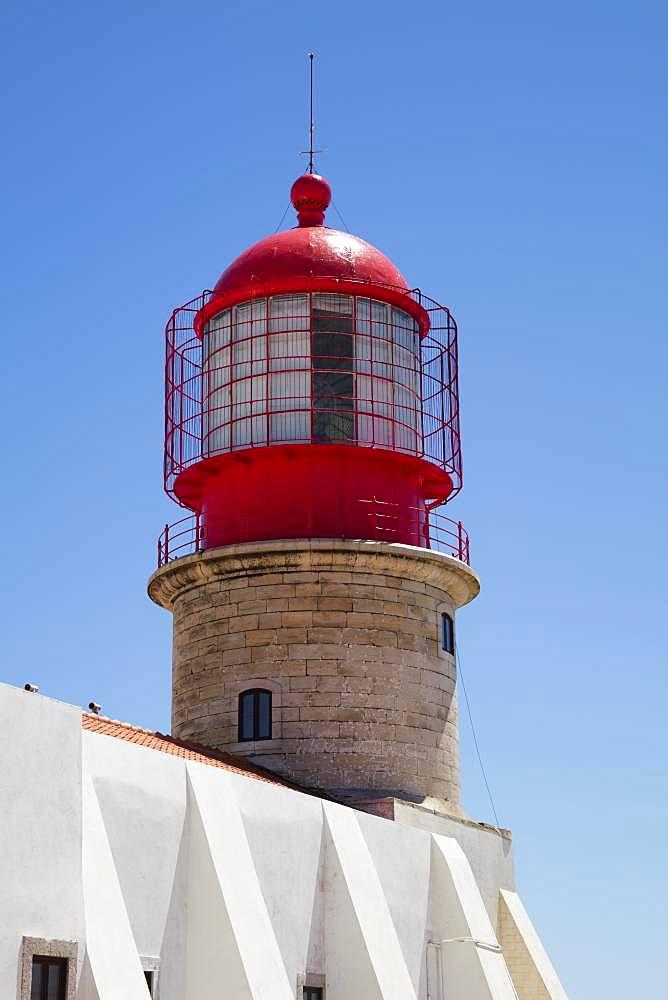 Lighthouse, Cabo de Sao Vicente, Cape Sankt Vinzenz, Southwest point of Europe, Algarve, Portugal, Europe