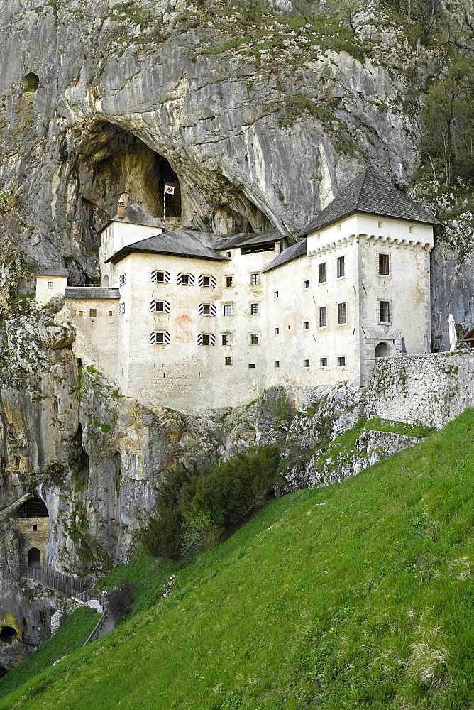 Cave castle Lueg, predjamski grad, Predjama, near Postojna, Slovenia, Europe