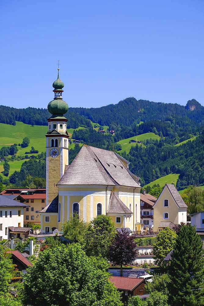 Parish Church St. Peter, Reith im Alpbachtal, Tyrol, Austria, Europe
