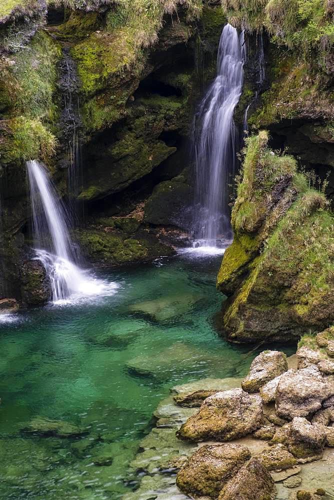 Waterfall at the Traunfall, Upper Austria, Austria, Europe