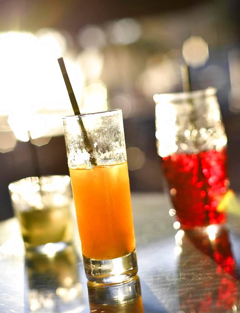 Cocktails, National Drink Poncha Madeira, Mojito, Sangria, beach bar, Calheta, Island Madeira, Portugal, Europe